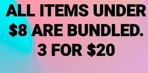 Bundle 3 items for $20 with a 🥳